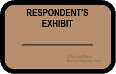 Respondent's Exhibit Labels Stickers Light Brown 492 Per Pack