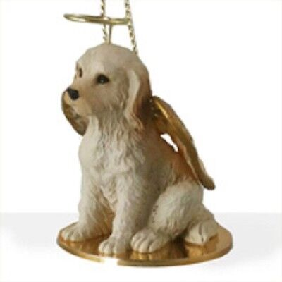 Small Angel LABRADOODLE BLONDE Christmas Angel Tree Ornament