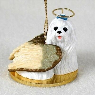Small Angel MALTESE Christmas Angel Tree Ornament