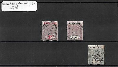 Lot of 10 Sierra Leone Used Stamps #109054 X R