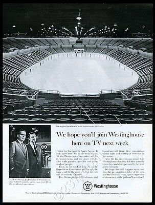1960 Walter Cronkite photo Democratic Convention LA Arena Westinghouse ad