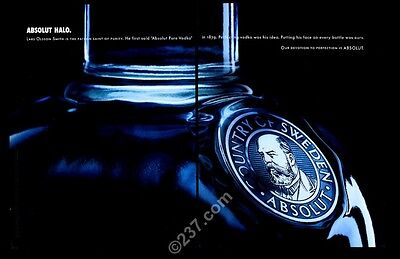2003 Absolut Halo vodka bottle photo vintage print ad