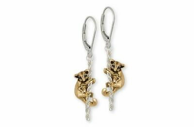 Sugar Glider Jewelry Silver And Gold Sugar Glider Earrings Handmade Sugar Glider