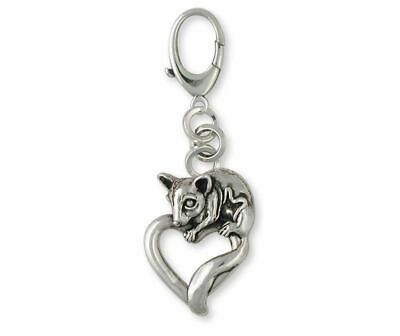 Sugar Glider Jewelry Sterling Silver Sugar Glider Zipper Pull Handmade Sugar Gli