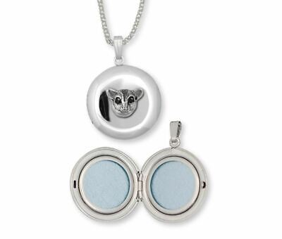 Sugar Glider Jewelry Sterling Silver Sugar Glider Photo Locket Handmade Sugar Gl