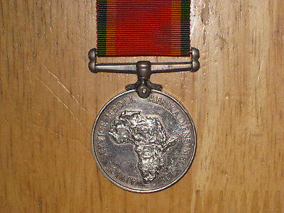 WW2 British South Africa Service Medal 1939-1945 nice named Silver