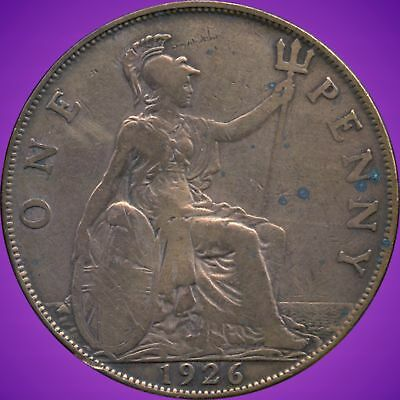 1926 Great Britian 1 Penny Coin