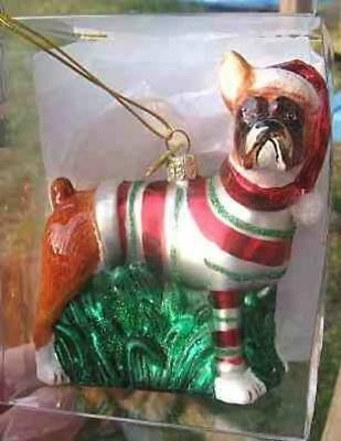Delicate Glass BOXER II Blown Glass Xmas Ornament RETIRED