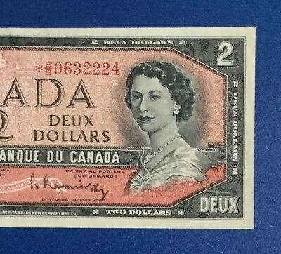 1954 $2 RED Canada DEUCE *** STAR ***! Hard to Find! Choice VF! Old Canadian!