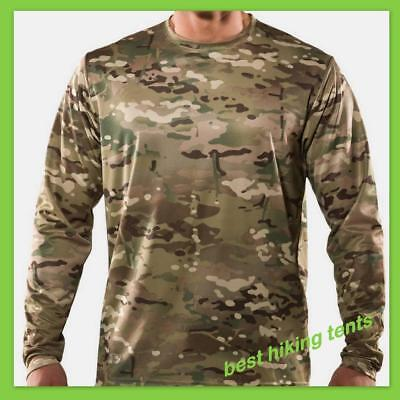 MULTICAM CAMOUFLAGE PATTERN LONG SLEEVE T-SHIRT - SZ S to 4XL - CAMO TSHIRT NEW*