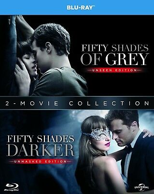 50 Fifty Shades of Grey and Fifty Shades Darker Two Movie Blu-Ray Set NEW 1 2