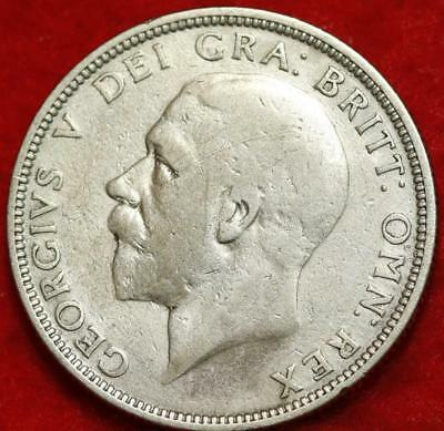 1928 Great Britain Florin Silver Foreign Coin Free S/H