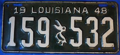 1948 Louisiana License Plate LONG OBSOLETE with PELICAN Check It OUT! NO RESERVE