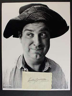 WESTERN ACTOR SMILEY BURNETTE (1911-1967) AUTOGRAPH PAPER with 11x14 PHOTO~