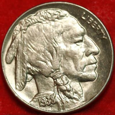 Uncirculated 1938-D Denver Mint Buffalo Nickel Free Shipping