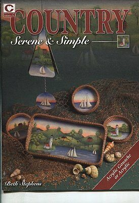 PAINTING BOOK - COUNTRY SERENE & SIMPLE by Beth Stephens