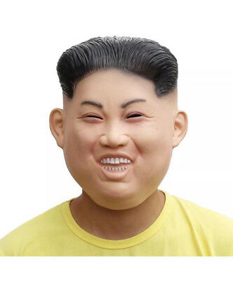 Party Costume Latex Human Face Mask Funny Kim Jong Un Environmental And Nontoxic