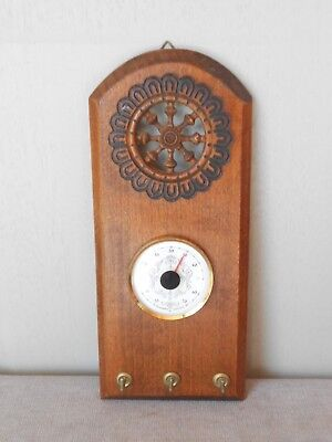 Vintage french THERMOMETER and Key Rack Holder