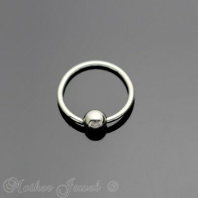 20G 8Mm Silver 316L Surgical Steel Cbr Bcr Ear Nose Septum Helix Captive Ring