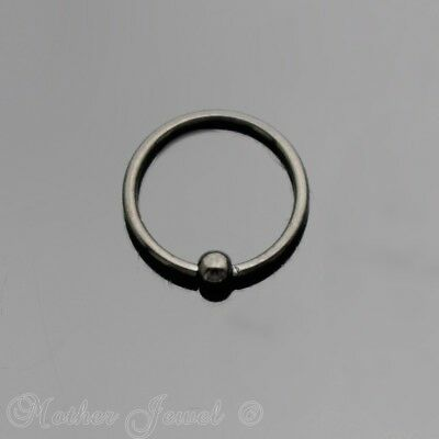 20G 8Mm Black Pvd Surgical Steel Cbr Ear Nose Septum Helix Rook Captive Ring