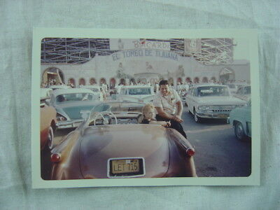 Vintage Car Photo 1954 1955 Chevrolet Corvette El Toreo De Tijuana Bullfight 815