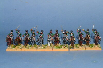 15mm Napoleonic painted Prussian Hussar Gree Facings Pr07