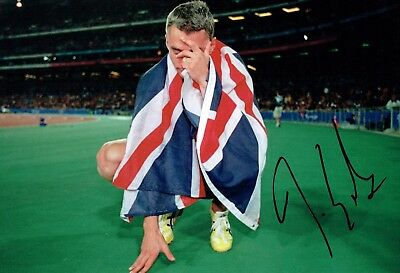 Jonathan EDWARDS Autograph Signed Photo B AFTAL COA British Athlete Triple Jump
