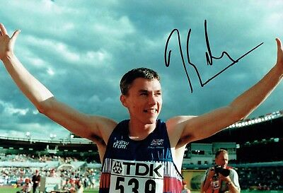 Jonathan EDWARDS Autograph Signed Photo D AFTAL COA British Athlete Triple Jump