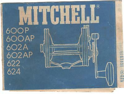 Vintage Collectable Fishing Reel Instruction Manual Mitchell 600 Series