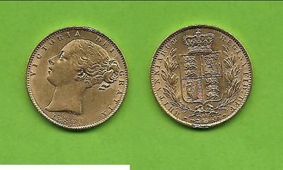 1 Sovereign Victoria Wappen Gold 1864 geh.