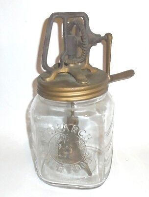 Antique Victorian Advertising Shop Display Monarch Fine Foods Butter Churn