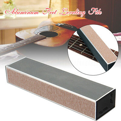 Aluminum Guitar Bass Fret Leveling File with Self-adhesive Sandpaper For Luthier