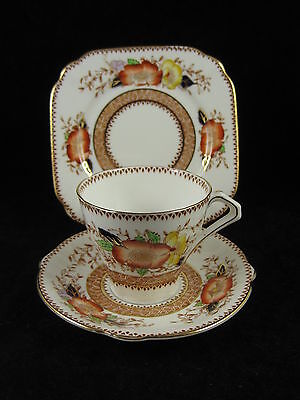Lovely Bell China Imari Floral Trio Cup Saucer Side Plate