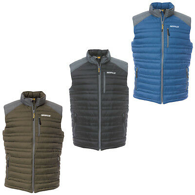 5750d24eb1b73a CAT Caterpillar Defender Insulated Vest Body Warmer Water Resistant Mens  Gilet