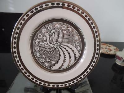 Susie Cooper Gray`s Pottery Persian Bird Gloria Silver Lustre Charger 8554 Grays