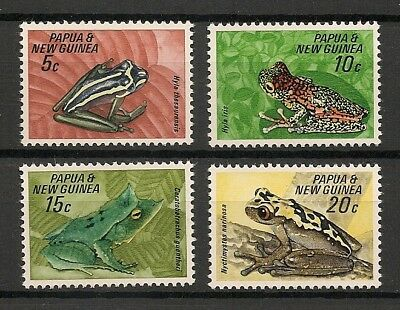 Papua New Guinea 1968 Wildlife Fauna Animals Tiere Dieren Reptile Frogs set MNH
