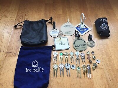 Collection Of Golf Memorabilia - St Andrews, Gleneagles, Bag Tags, Markers Etc