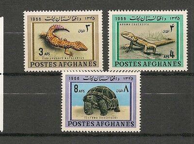 Afghanistan 1966 Wildlife Fauna Animals Tiere Dieren Turtle Lizard set MNH