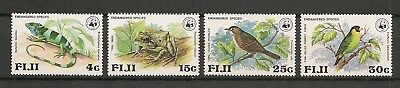 Fiji 1979 WWF Wildlife Fauna Animals Tiere Dieren Frog Iguana Birds set MNH