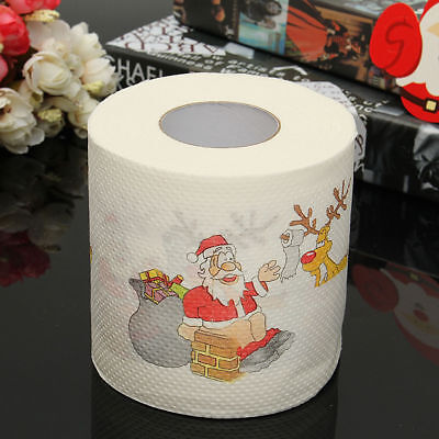 Santa Claus Xmas Home Household Supplies Toilet Paper Roll Living Room Décor Hot