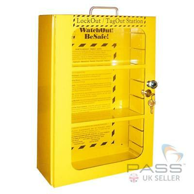 Lockout Tagout Station - 16 inch X 14 inch X 6 inch with Clear Fascia