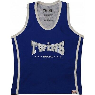 Twins Damen Top TSB-1 blue. Top mit Sport BH. Boxen, Fitness, Muay Thai,Kickboxe