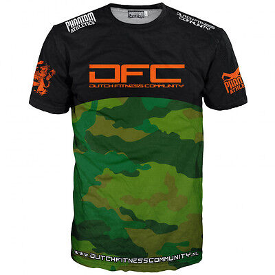 "Phantom Athletics Shirt ""EVO DFC - Dutch Fitness Community"" -Schwarz/Camo. S-XXL"
