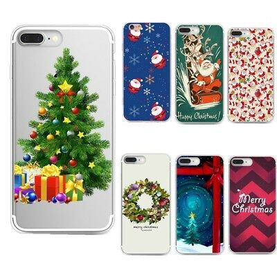 Christmas Tree Pattern Silicone Soft TPU Slim Back Cover Case For Samsung Galaxy