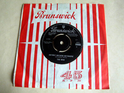 The Who-Anyway Anyhow Anywhere-Brunswick 05935 1965 Ex+