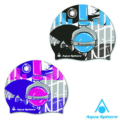 Aqua Sphere Kids Silicone Swimming Cap Hat - Childrens Boys & Girls Swim Caps