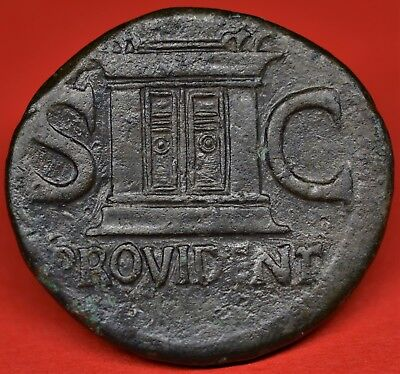 Rare Copper As Of Divus Augustus: Provident. Rome, Ad 22-30. Ric: 81, Nice Coin!