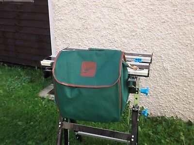 Brand New 'shires' Horse Riding Saddle Green Canvas Water Resistant Bags Pannier