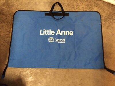 New Laerdal Little Anne CPR Manikin Blue Soft Pack Carrying Case Bag ONLY Single
