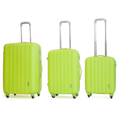 Set 3 Valigie Trolley Rigide in ABS 4 Ruote TSA Ravizzoni Icon Verde Mela